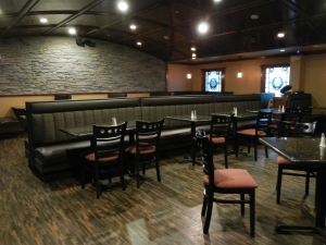The 20 seat dining room of Legends Brew Pub.