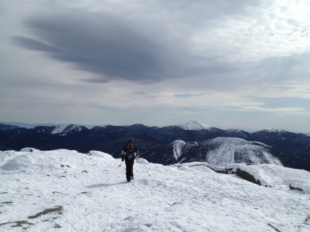 Walking the summit of Algonquin.