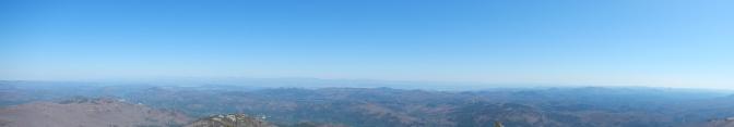 Distant views of Lake Champlain.