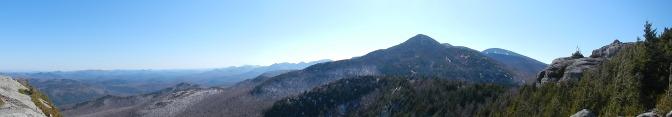 Looking back from Bald Peak toward Rocky Peak.