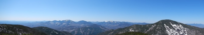 View from the summit of Rocky Peak Ridge, Giant Mountain on the right.