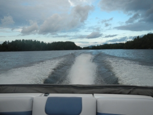 The fastest trip I've ever taken on Saranac Lake