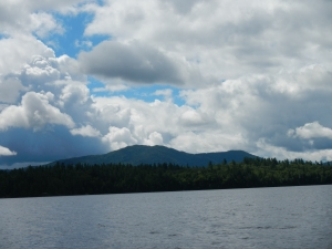 Ampersand Mountain from the Lower Saranac Lake.