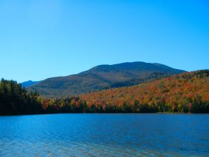 The Autumn color surrounding Heart Lake
