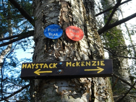 The junction for Haystack and McKenzie