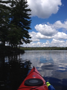 Paddling Houle Pond. August 24,2014