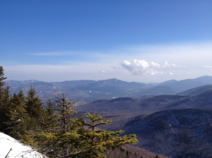 The East Facing view from the outcrop near the summit. Hurricane Mountain near center.
