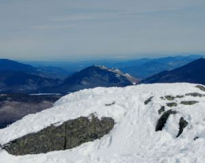 Pitchoff Mountain (center) as seen from the summit of Algonquin 3-10-13